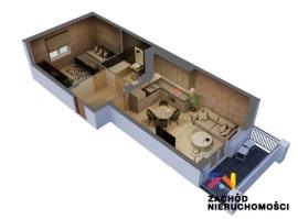 Nowe mieszkanie, 2 pokoje, 1/4 piętro, 45,43m2