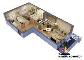 Nowe mieszkanie, 3 pokoje, 1/4/5 piętro, 56,55 m2